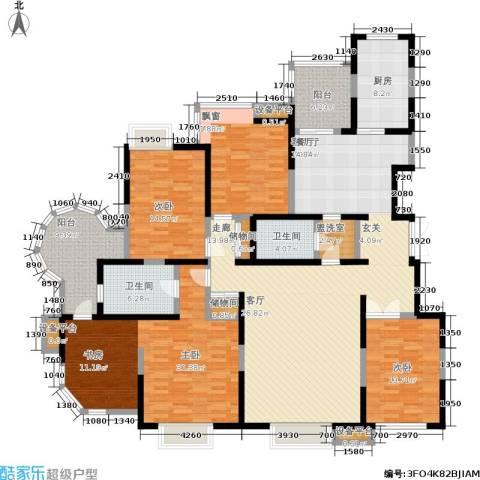 曲江兰亭4室1厅2卫1厨200.00㎡户型图