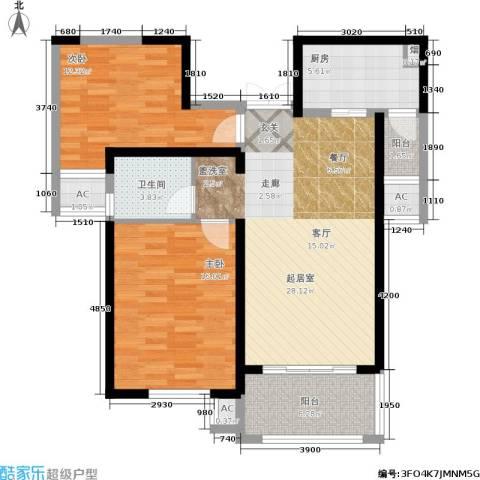 东方米兰国际城2室0厅1卫1厨111.00㎡户型图