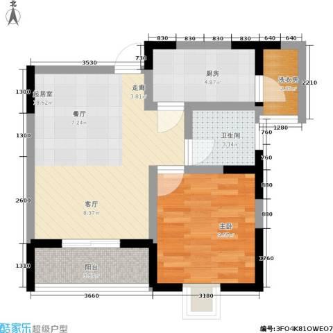 朵力欣元1室0厅1卫1厨47.00㎡户型图