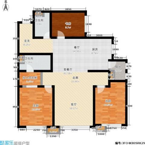 SR国际新城二期3室1厅2卫0厨169.00㎡户型图