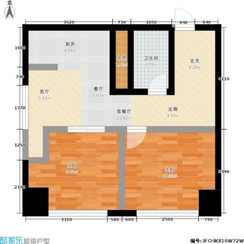 SR国际新城二期2室1厅1卫0厨73.00㎡户型图