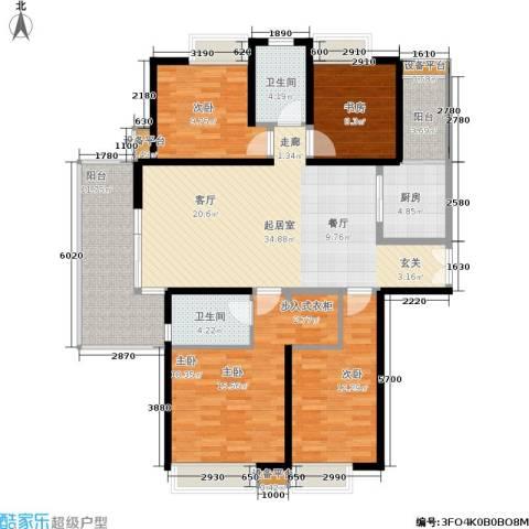 紫薇希望城4室0厅2卫1厨150.00㎡户型图