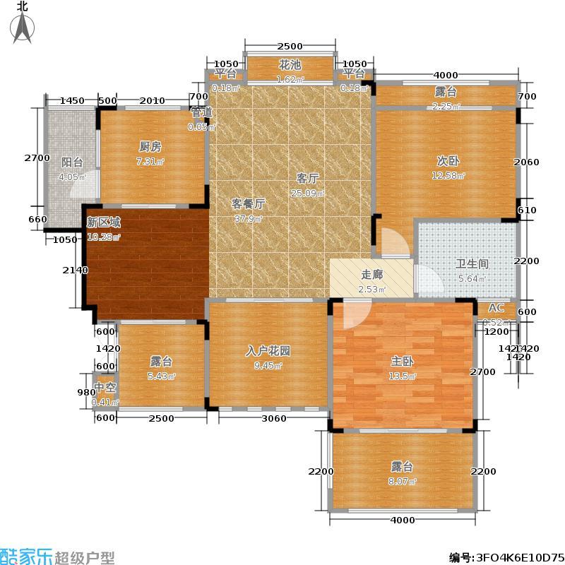 俊峰香格里拉89.10㎡两室两厅一卫销售面积约89.1平米户型2室2厅1卫