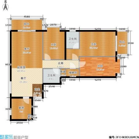 五栋大楼3室0厅2卫1厨145.00㎡户型图