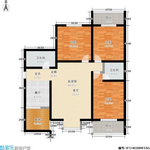 明德8英里3室0厅2卫1厨131.00㎡户型图