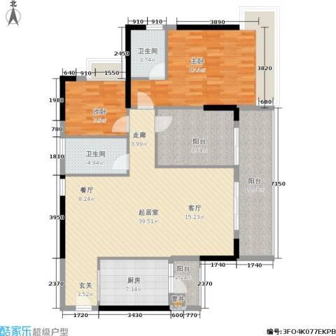 荔江美筑2室0厅2卫1厨115.00㎡户型图