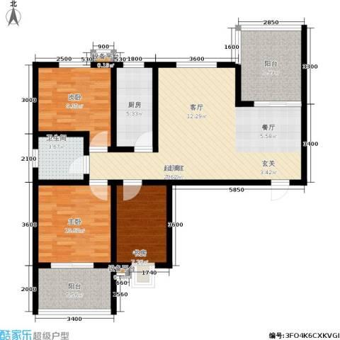康城静林湾3室0厅1卫1厨116.00㎡户型图