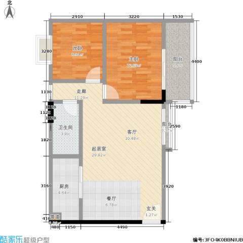 城市假日园2室0厅1卫1厨75.00㎡户型图