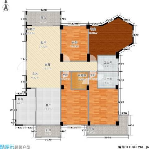 五里汉城4室1厅2卫1厨166.83㎡户型图