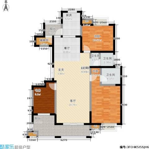 天朗西子湖3室0厅2卫1厨131.00㎡户型图