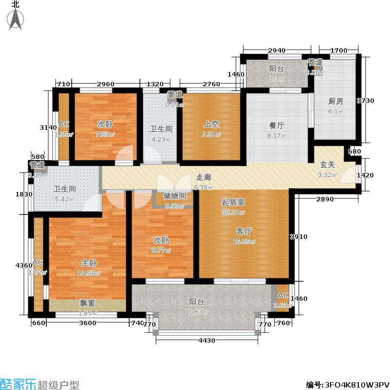 金色家园134.00㎡F户型