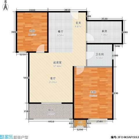 市政馨苑2室0厅1卫1厨92.00㎡户型图
