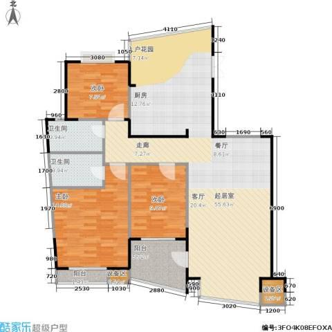 振业山水名城3室0厅2卫0厨112.75㎡户型图