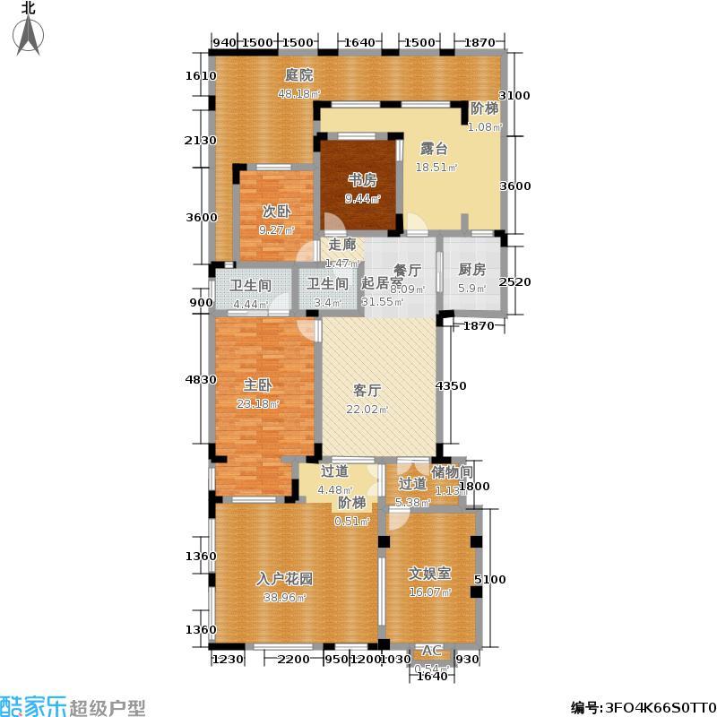 中国诺贝尔城100.00㎡南入户退台花园洋房一层HN-B1户型