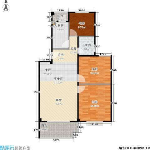 七里晴川3室1厅1卫1厨105.00㎡户型图
