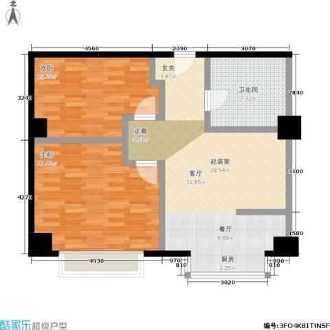 舜江广场2室0厅1卫0厨77.00㎡户型图