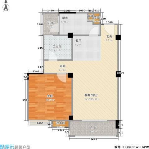 滨江怡畅园1室1厅1卫1厨65.85㎡户型图