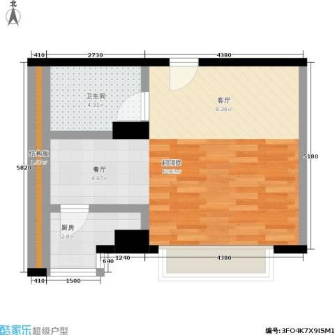 舜江广场1卫1厨41.00㎡户型图