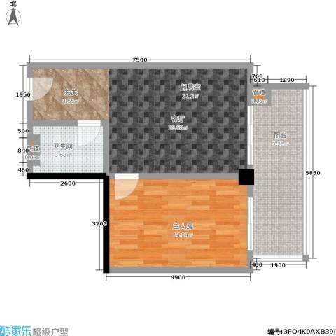 颐和雅轩1卫0厨61.00㎡户型图