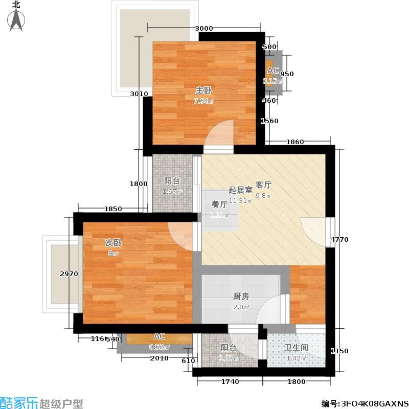 TT国际公寓56.00㎡户型