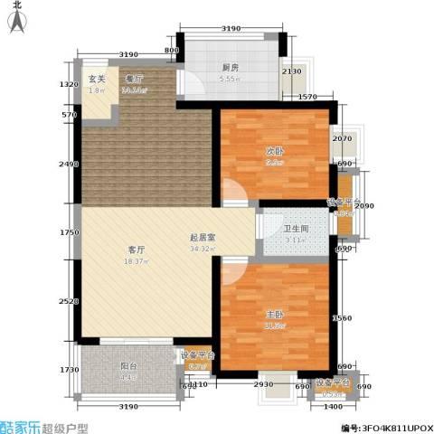 启航0292室0厅1卫1厨88.00㎡户型图