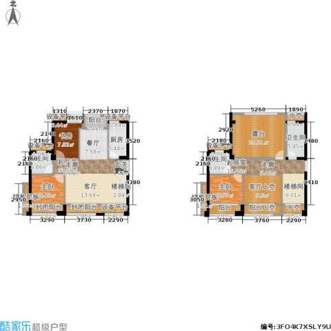 泉舜泉水湾3室0厅3卫1厨143.14㎡户型图