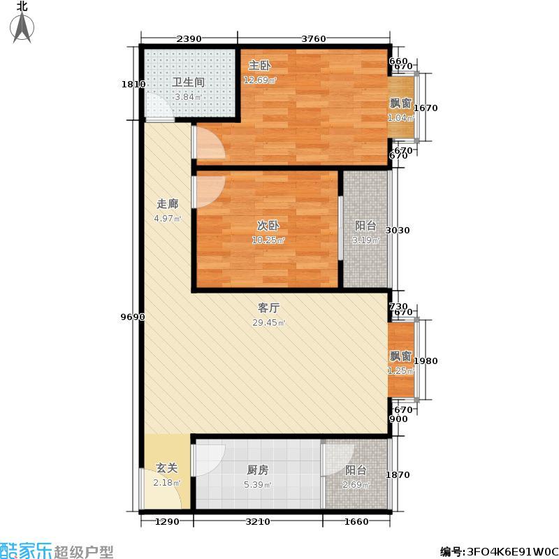 阳光80公寓81.72㎡阳光80公寓户型图(14/18张)户型2室2厅1卫