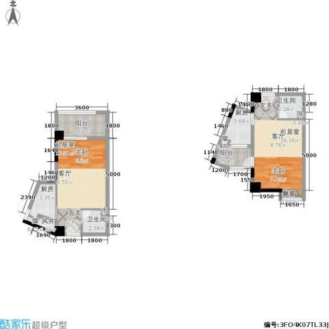 竹园阳光嘉苑2卫2厨88.00㎡户型图