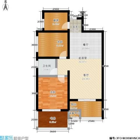 曲江观唐3室0厅1卫1厨85.00㎡户型图