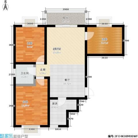 东方名苑3室0厅1卫1厨96.00㎡户型图