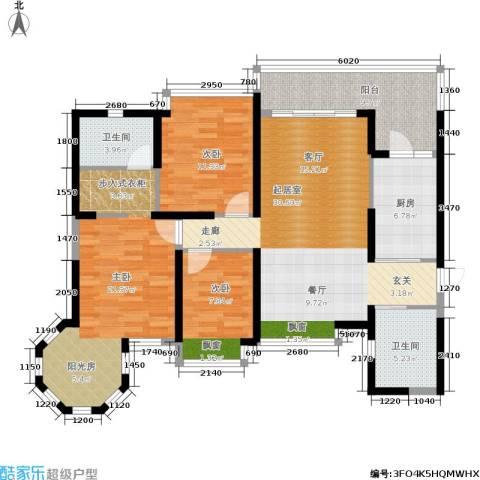 盛世一品3室0厅2卫1厨126.00㎡户型图