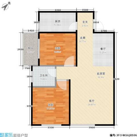 欧罗巴小镇2室0厅1卫1厨84.00㎡户型图