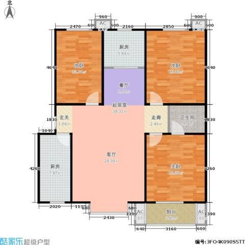 香居美地3室0厅1卫2厨117.00㎡户型图