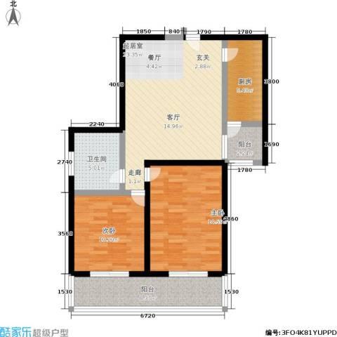 凤城明珠2室0厅1卫1厨81.00㎡户型图