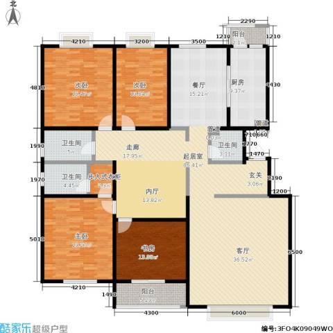 银座花园4室0厅3卫1厨255.00㎡户型图