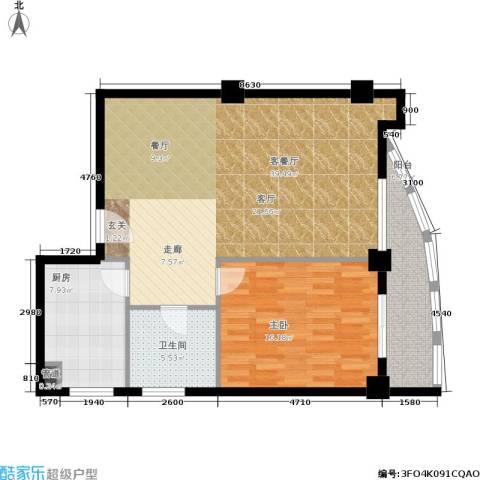 航天星苑1室1厅1卫1厨80.00㎡户型图