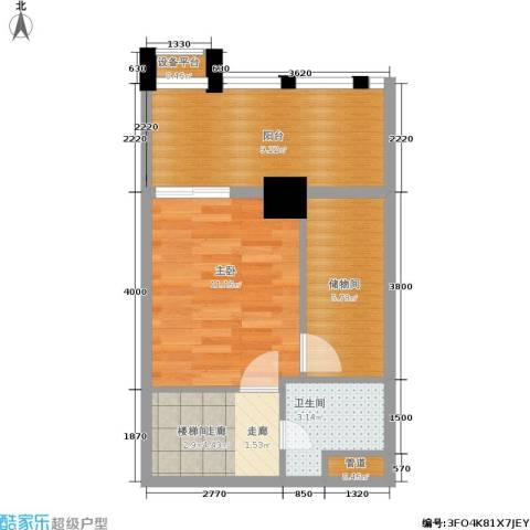 壹加壹空间1室0厅1卫0厨51.00㎡户型图