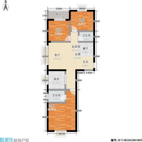 尚品花都3室0厅2卫1厨123.00㎡户型图