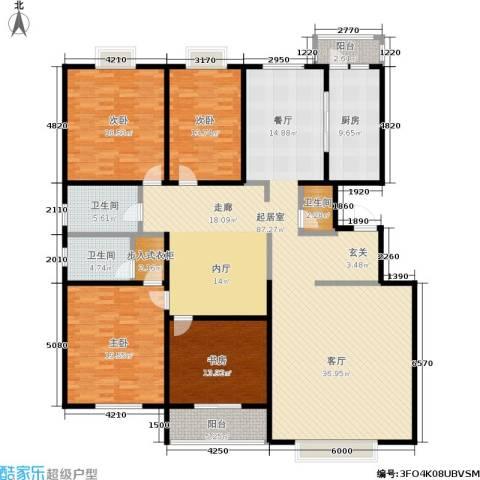 银座花园4室0厅3卫1厨257.00㎡户型图