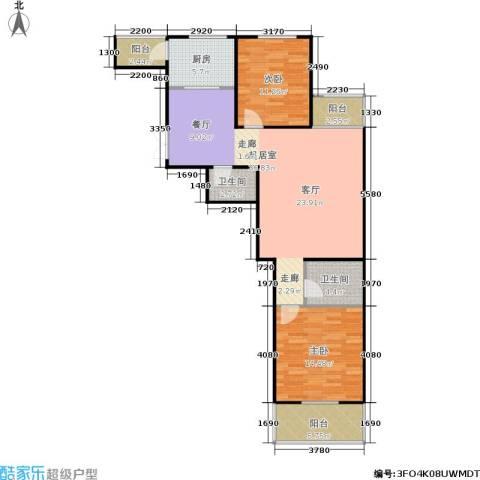风情假日2室0厅2卫1厨97.00㎡户型图