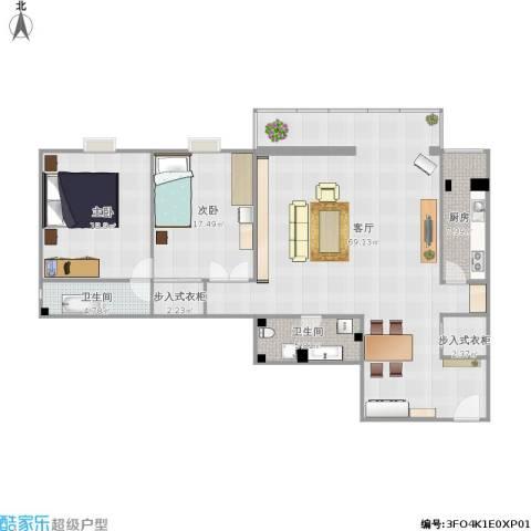 嘉莲苑2室1厅2卫1厨172.00㎡户型图