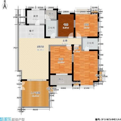 檀香园4室0厅2卫1厨153.00㎡户型图