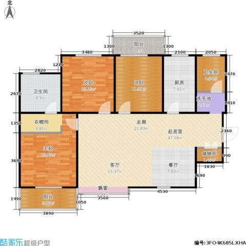欧罗巴小镇3室0厅2卫1厨161.00㎡户型图