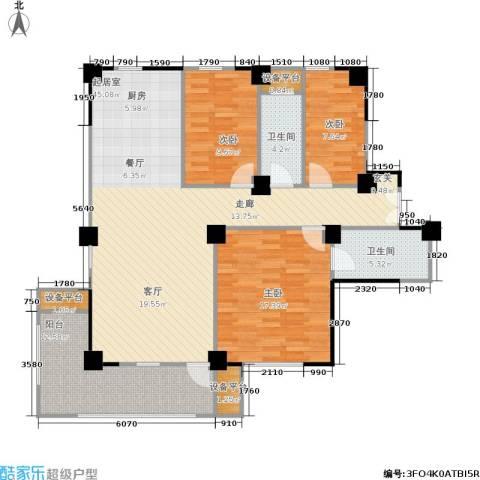 水木华庭3室0厅2卫0厨116.00㎡户型图