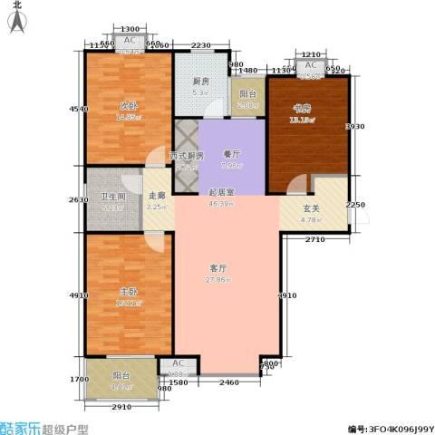 盛华园3室0厅1卫1厨125.00㎡户型图
