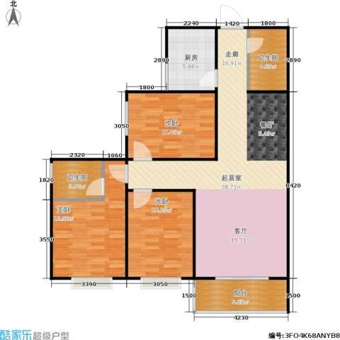 欧罗巴小镇3室0厅2卫1厨118.00㎡户型图