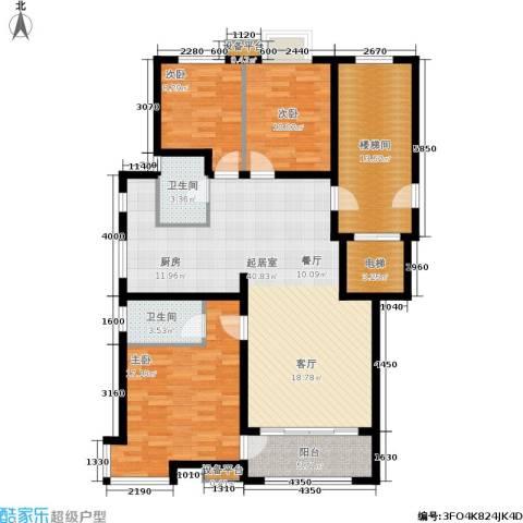 东山墅3室0厅2卫0厨120.00㎡户型图