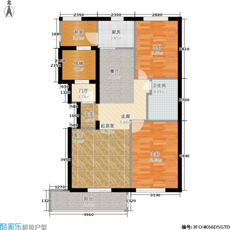 益嘉广场99.64㎡益嘉广场户型图7号楼B户型两室两厅(1/5张)户型10室