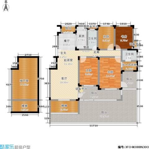 南山巴黎印象4室0厅2卫1厨170.00㎡户型图
