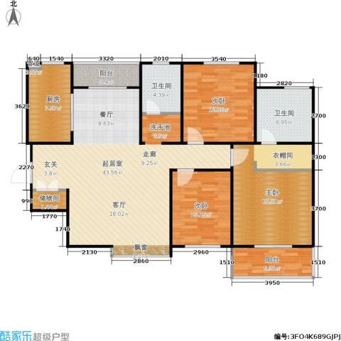 欧罗巴小镇3室0厅2卫1厨145.00㎡户型图